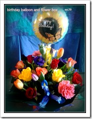 birthday balloon and flowerbox no.70.18