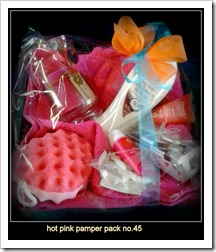 hot pink pamper pack no.45.42