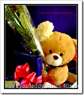 rose and teddy ,chocs